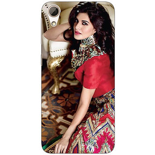 Enhance Your Phone Bollywood Superstar Jacqueline Fernandez Back Cover Case For HTC Desire 626