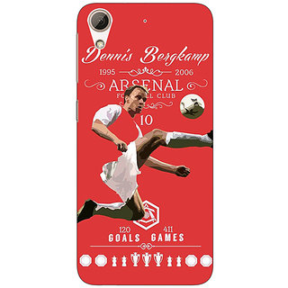 Enhance Your Phone Arsenal Dennis Bergkamp Back Cover Case For HTC Desire 626