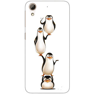 Enhance Your Phone Penguins Madagascar Back Cover Case For HTC Desire 626