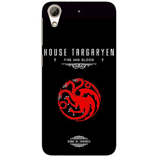 Enhance Your Phone Game Of Thrones GOT House Targaryen  Back Cover Case For HTC Desire 626G+