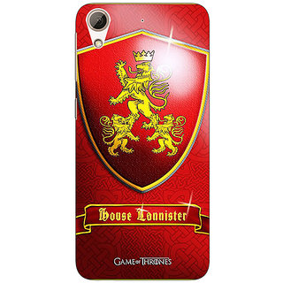 Enhance Your Phone Game Of Thrones GOT House Lannister  Back Cover Case For HTC Desire 626G+