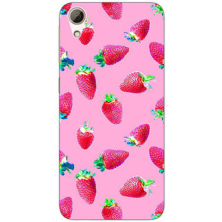 Enhance Your Phone Strawberry Pattern Back Cover Case For HTC Desire 626G+