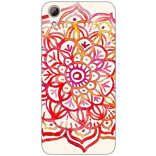Enhance Your Phone Flower Floral Pattern Back Cover Case For HTC Desire 626G+