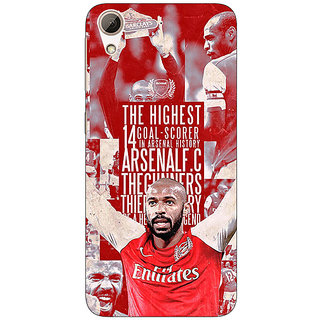 Enhance Your Phone Arsenal Therry Henry Back Cover Case For HTC Desire 626G+