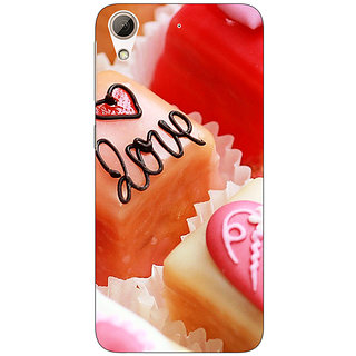Enhance Your Phone Cupcakes Love  Back Cover Case For HTC Desire 626G