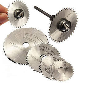 Details about  Dremel Rotary Tool Cutting Discs Wheel 1 Mandrel+5Pcs HSS Saw Bl