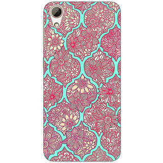 Enhance Your Phone Pink Morroccan Pattern Back Cover Case For HTC Desire 626G+