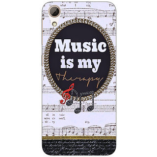 Enhance Your Phone Music Quote Back Cover Case For HTC Desire 626G+
