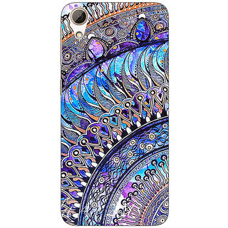 Enhance Your Phone Paisley Beautiful Peacock Back Cover Case For HTC Desire 626G