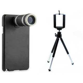 SAMSUNG NOTE 5 TELESCOPE 8X LENS WITH BACK CASE/COVER + MOBILE TRIPOD