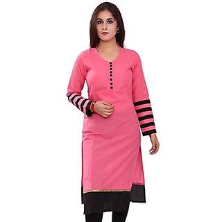 Clickedia Womens Cotton Kurti (012 Pink KurtaFree SizeRed)