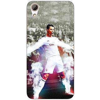 Enhance Your Phone Cristiano Ronaldo Real Madrid Back Cover Case For HTC Desire 728