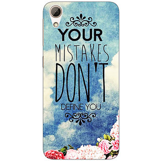 Enhance Your Phone Quotes Mistakes Back Cover Case For HTC Desire 626S