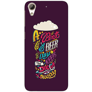 Enhance Your Phone Beer Quotes Back Cover Case For HTC Desire 626S