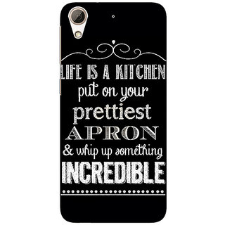 Enhance Your Phone Chef Quote Back Cover Case For HTC Desire 626S