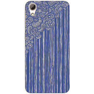 Enhance Your Phone Beauty Curtains Pattern Back Cover Case For HTC Desire 728
