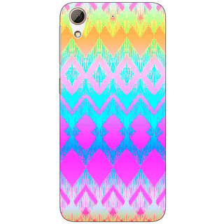 Enhance Your Phone Psychdelic Triangles Pattern Back Cover Case For HTC Desire 728