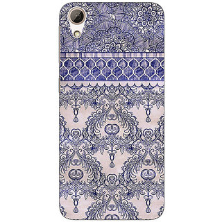 Enhance Your Phone Vintage English Pattern Back Cover Case For HTC Desire 728