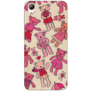 Enhance Your Phone Teddy Pattern Back Cover Case For HTC Desire 728