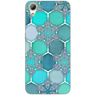 Enhance Your Phone Floral Hexagons Pattern Back Cover Case For HTC Desire 728