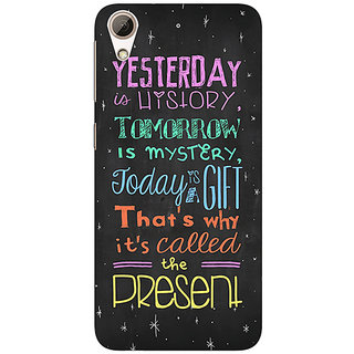 Enhance Your Phone Happiness Quote Back Cover Case For HTC Desire 728