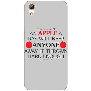 Enhance Your Phone Apple Quote Back Cover Case For HTC Desire 728