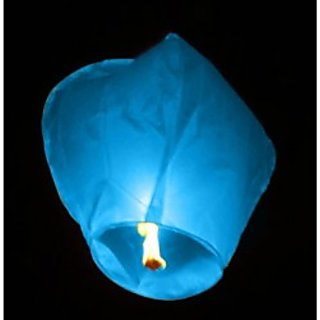 SKY LANTERNS / WISH LAMPS PACK OF 4 (BLUE)