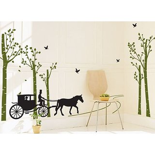 AY815 Wall Stickers Wall Decor Castle With Horse