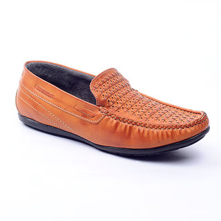 Foot 'n' Style Outgoing Tan Loafers (fs 231)