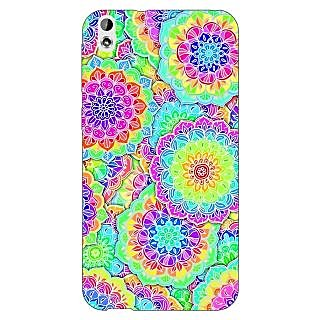 Enhance Your Phone Psychdelic Floral  Pattern Back Cover Case For HTC Desire 816
