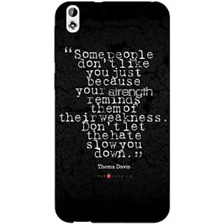 Enhance Your Phone Inspiring Quote Back Cover Case For HTC Desire 816