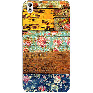 Enhance Your Phone Floral Pattern  Back Cover Case For HTC Desire 816 Dual Sim