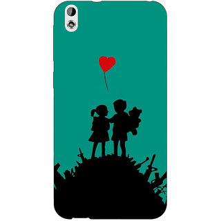 Enhance Your Phone Cute Couple  Back Cover Case For HTC Desire 816 Dual Sim