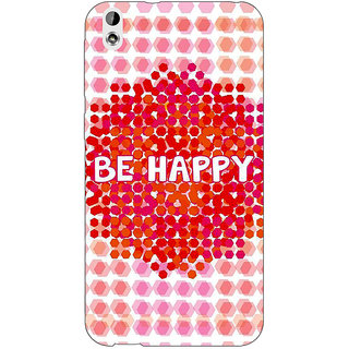 Enhance Your Phone Quotes Happy Back Cover Case For HTC Desire 816