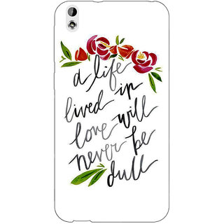 Enhance Your Phone Quotes Back Cover Case For HTC Desire 816