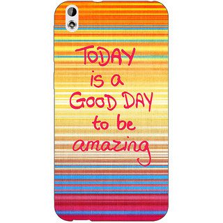 Enhance Your Phone Good Day Pattern Back Cover Case For HTC Desire 816 Dual Sim