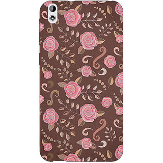 Enhance Your Phone Soft Roses Pattern Back Cover Case For HTC Desire 816 Dual Sim