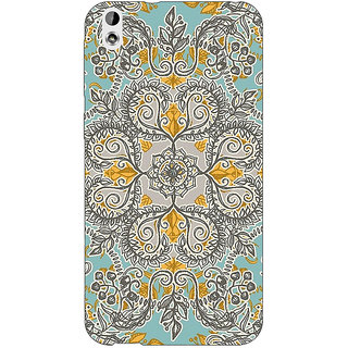 Enhance Your Phone Vintage Floral Pattern Back Cover Case For HTC Desire 816G