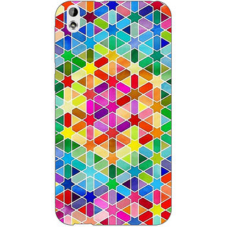 Enhance Your Phone Hexagon Star Pattern Back Cover Case For HTC Desire 816G