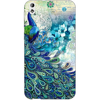 Enhance Your Phone Peacock Canvas Back Cover Case For HTC Desire 816 Dual Sim