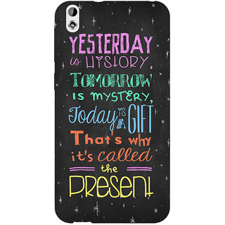 Enhance Your Phone Happiness Quote Back Cover Case For HTC Desire 816 Dual Sim