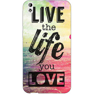 Enhance Your Phone Life Quote Back Cover Case For HTC Desire 816 Dual Sim