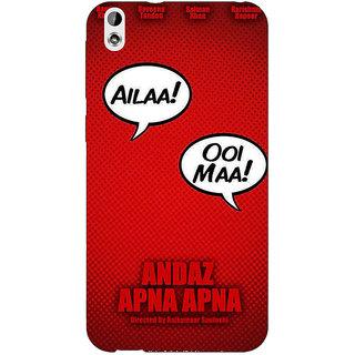 Enhance Your Phone Bollywood Superstar Andaz Apna Apna Back Cover Case For HTC Desire 816 Dual Sim