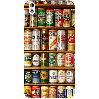 Enhance Your Phone Beer Cans Back Cover Case For HTC Desire 816G