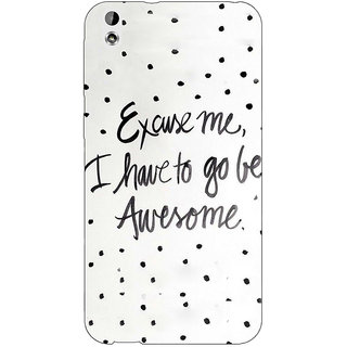Enhance Your Phone Quote Back Cover Case For HTC Desire 816G