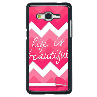 Enhance Your Phone Quotes Life is Beautiful Back Cover Case For Samsung Galaxy J5 E631176