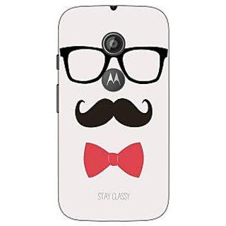Enhance Your Phone Mustache Back Cover Case For Moto E2 E650756