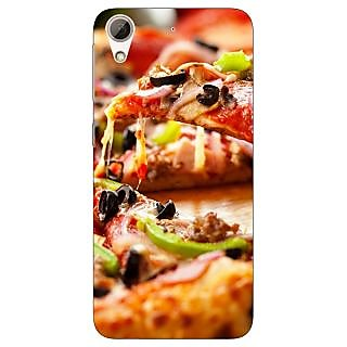 Enhance Your Phone Pizza Love Back Cover Case For HTC Desire 728G Dual Sim