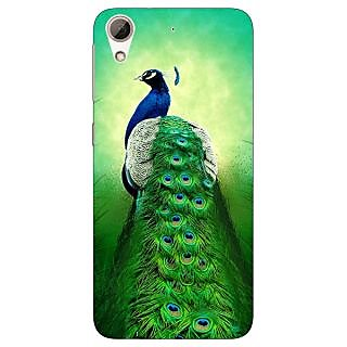 Enhance Your Phone Paisley Beautiful Peacock Back Cover Case For HTC Desire 728G Dual Sim