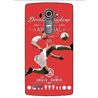 Enhance Your Phone Arsenal Dennis Bergkamp Back Cover Case For LG G4